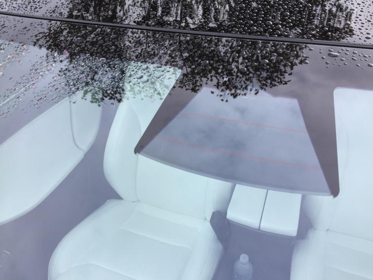 Frontwiew Triple Camera Tesla Model S