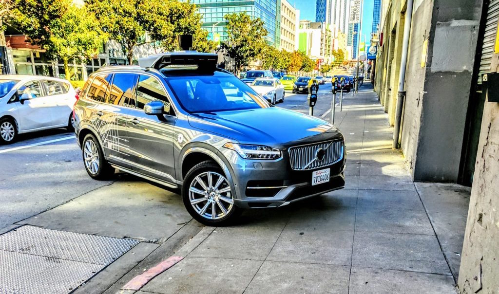A self-driving Uber on the streets of San Francisco December 2, 2016 (Geektime/Yaniv Feldman)