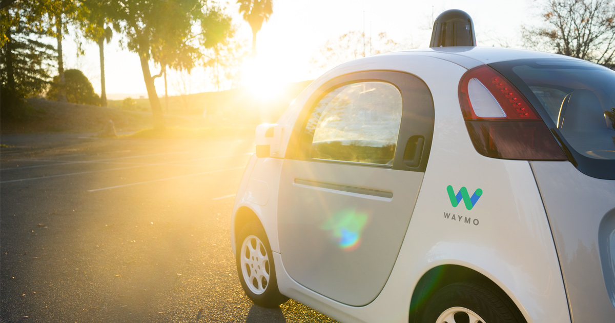 Waymo riding into dawn
