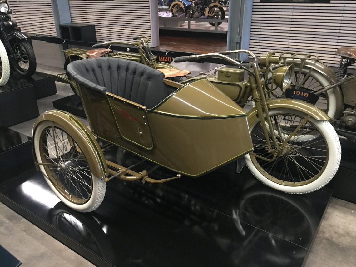 1918 Model J with Rogers Seidecar, F-Head V-Twin