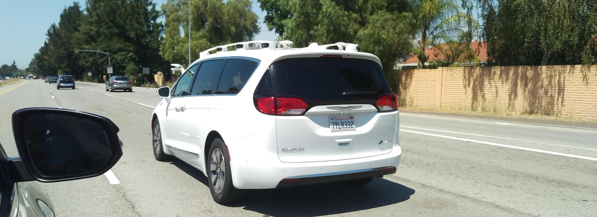 Unknown Self-Driving Pacifica Spotted On Highway – The Last