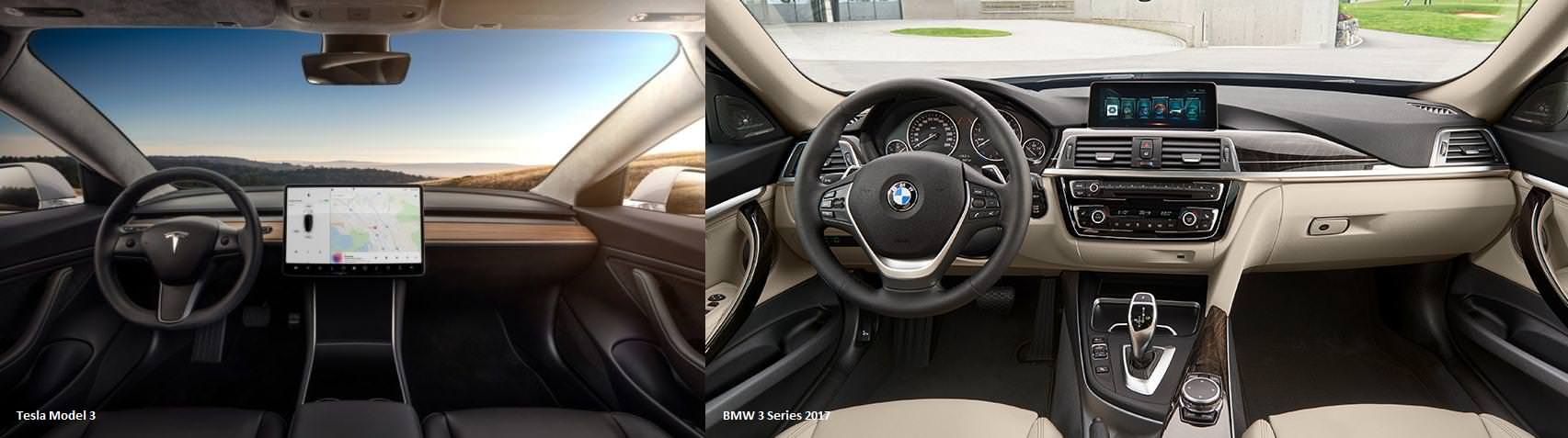 Comparing the interior design – or rather more the cockpits – of Tesla's Model 3 and the BMW 3 Series gives us some shocking revelations how advanced and ...