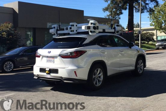Apple Lexus Autonomous Car (C) MacRumors