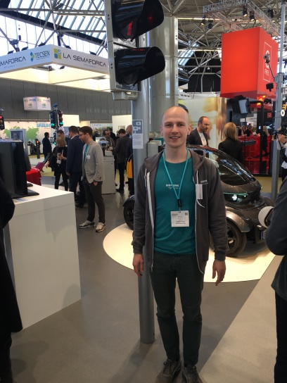 David Borst from Siemens at the Intertraffic 2018 in Amsterdam