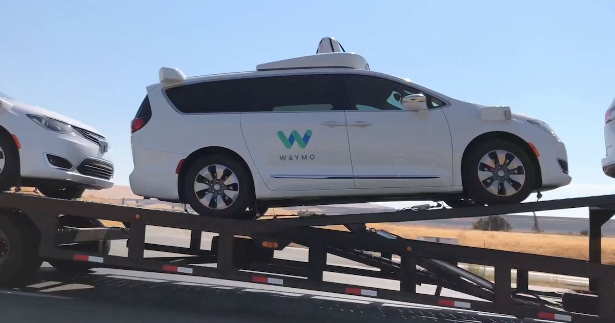 Waymo Cars On Transporter Spotted On Highway 152 – The Last